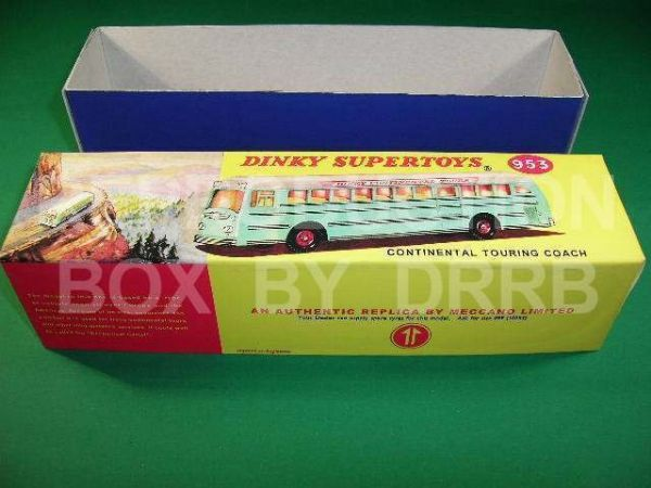 Dinky #953 Continental Touring Coach - Reproduction Box